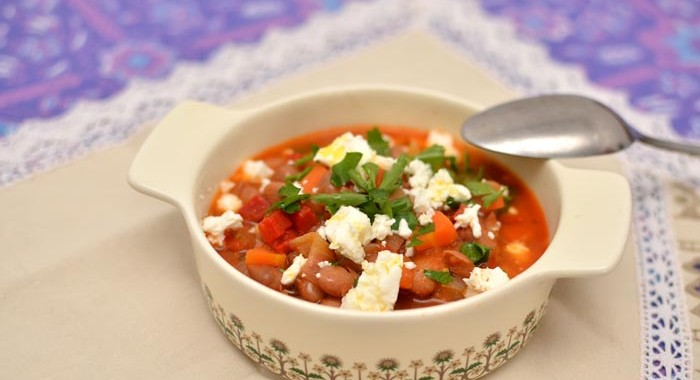 Homistro heathy tasty soups mediterranean bean soup with fetta
